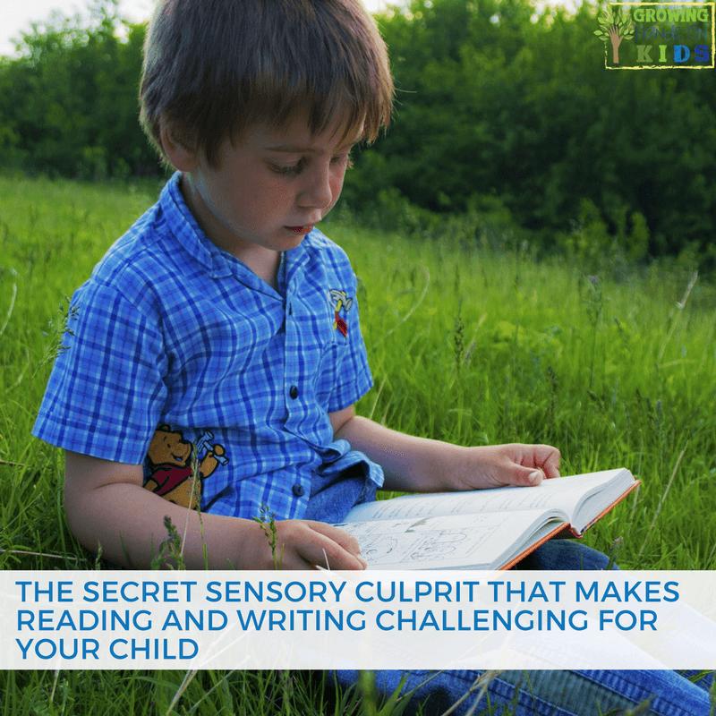 reading writing sensory culprit